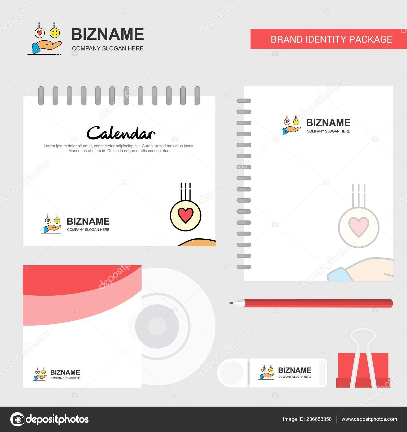 Emoji Dans Mains Logo Modele Calendrier Cover Journal Usb