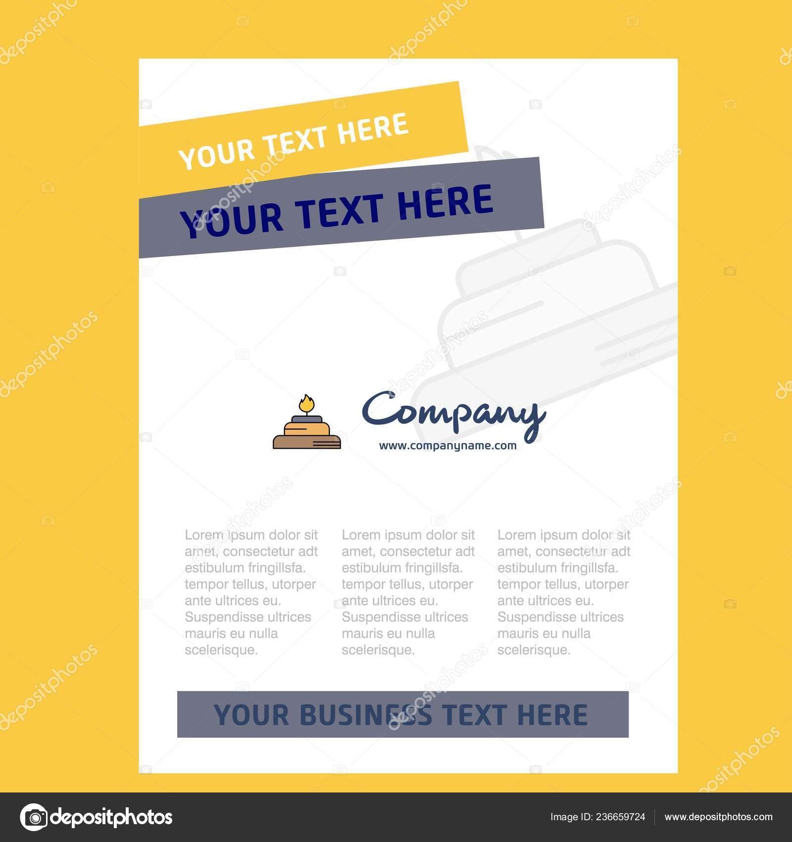 Title Page Design Company Profile Annual Report
