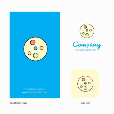 Bacteria plate  Company Logo App Icon and Splash Page Design. Creative Business App Design Elements
