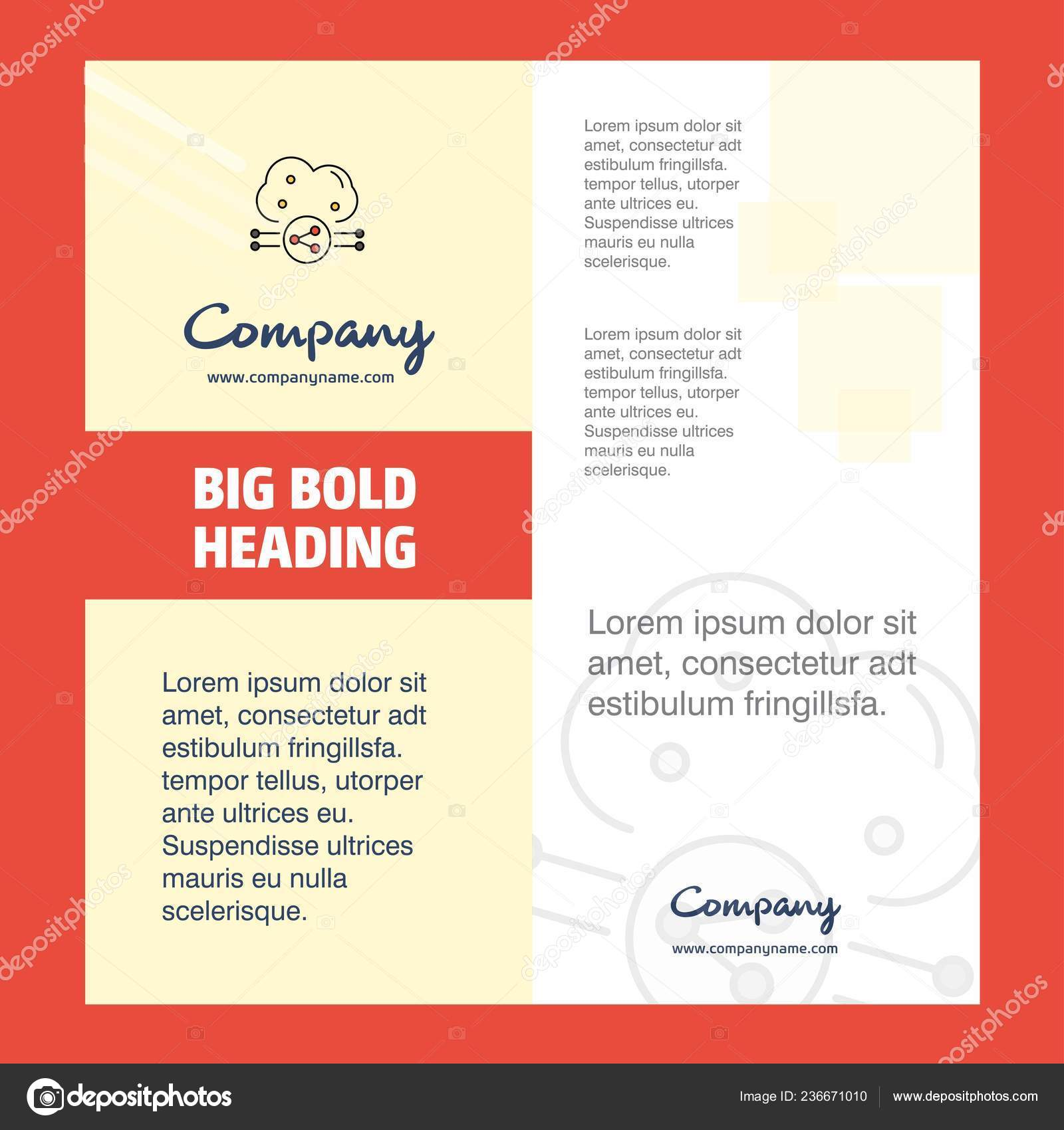 Company Brochure Title Page Design Company Profile Annual