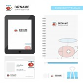 Fotografie Helicopter ambulance  Business Logo, Tab App, Diary PVC Employee Card and USB Brand Stationary Package Design Vector Template
