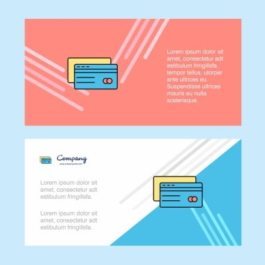 Credit card abstract corporate business banner template, horizontal advertising business banner.