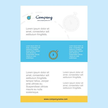 Template layout for Stopwatch  comany profile ,annual report, presentations, leaflet, Brochure Vector Background