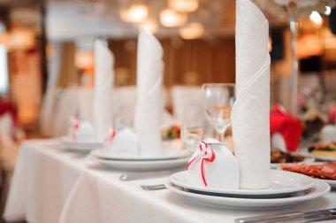 Wedding banquet in a restaurant, party stock vector