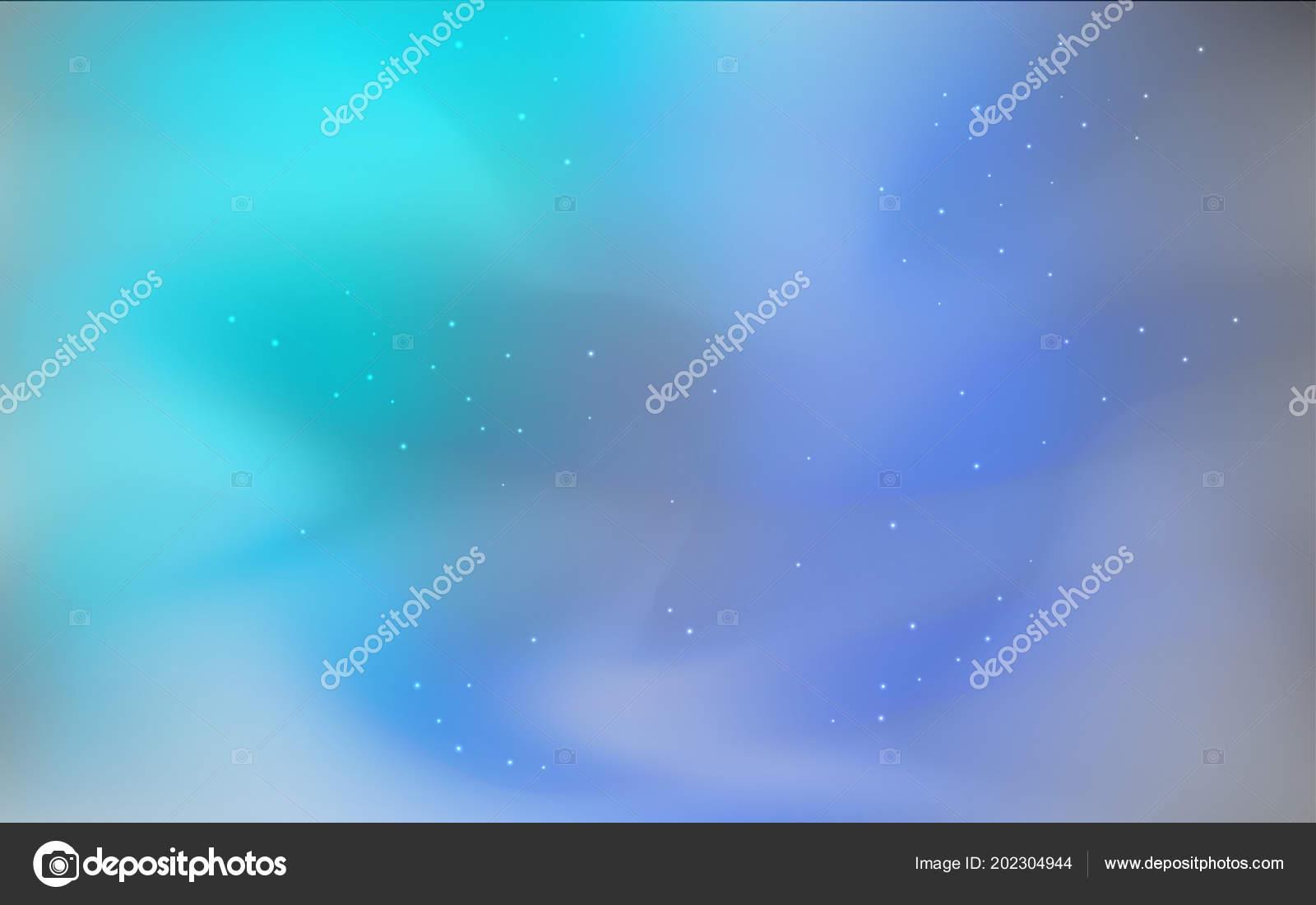 Blu Scuro Verde Vettore Sfondo Con Stelle Della Galassia Spazio