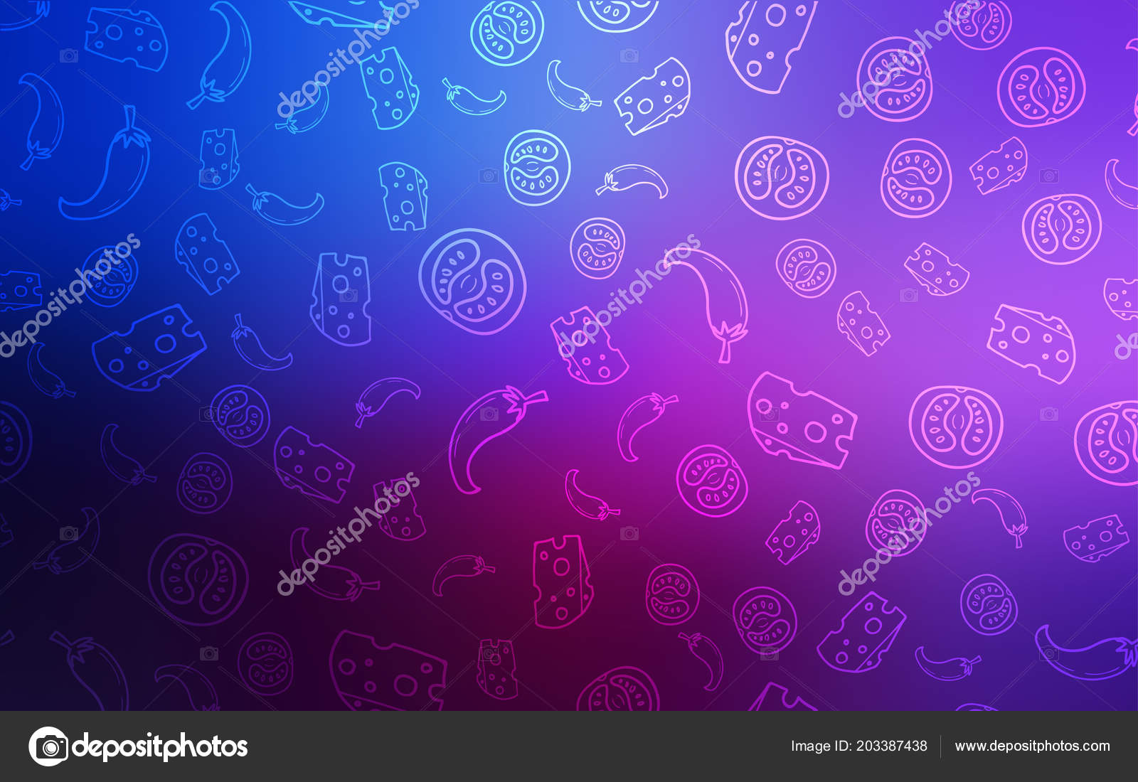 Dark Pink Blue Vector Layout Restaurant Food Illustration Set Fresh Stock Vector C Smaria 203387438