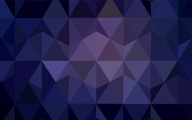 Dark Purple vector triangle mosaic cover. Elegant bright polygonal illustration with gradient. A new texture for your web site.