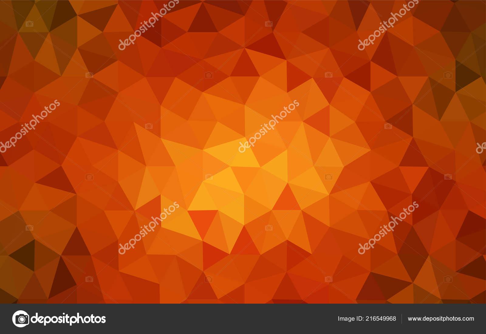 dark orange vector gradient triangles template shining colorful