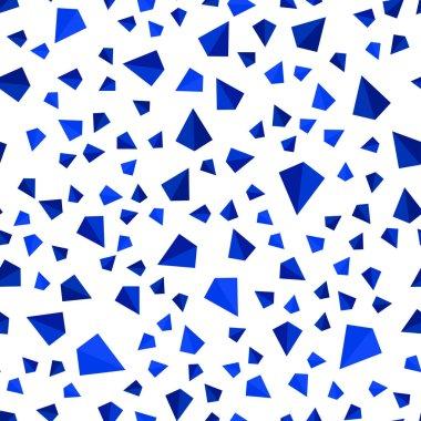 """Картина, постер, плакат, фотообои """"темно-синий вектор без моря, изометрическая текстура в триангулярном стиле. блестящие абстрактные иллюстрации с треугольными формами. дизайн для текстиля, ткани, обоев . цветы"""", артикул 231279614"""