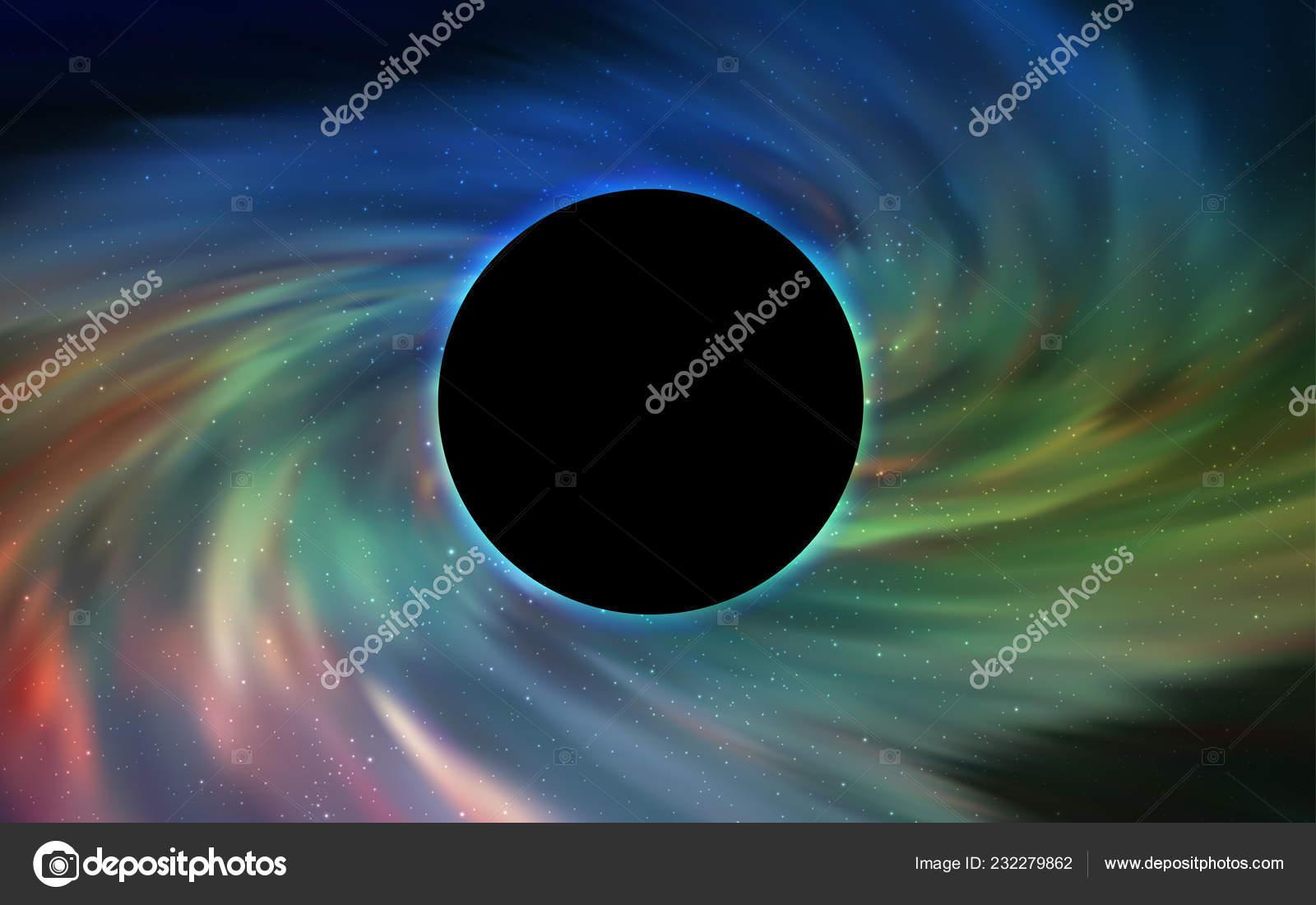 Blu Chiaro Struttura Vettore Verde Con Buco Nero Galassia