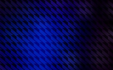 Dark BLUE vector cover with stright stripes. Lines on blurred abstract background with gradient. Best design for your ad, poster, banner.