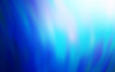 Dark BLUE vector blurred bright template.