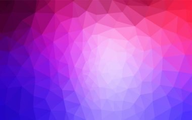 Light Pink, Blue vector polygon abstract backdrop. Shining colorful illustration with triangles. Best triangular design for your business.