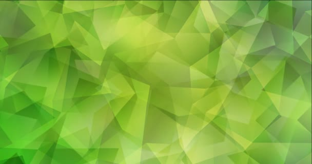 4K looping light green, yellow video with polygonal materials.