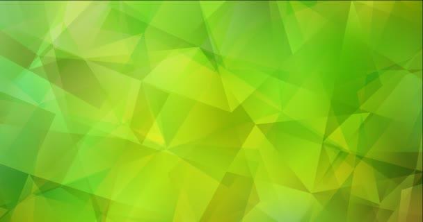 4K smyčka světle zelená, žlutá polygonální abstraktní záběry.