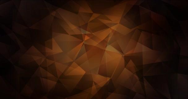 4K smyčka tmavě hnědé video s polygonálními materiály.