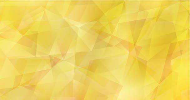 4K hurok világossárga poligonális videó minta.