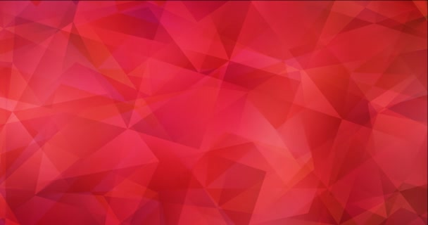 4K looping light red polygonal abstract animation.
