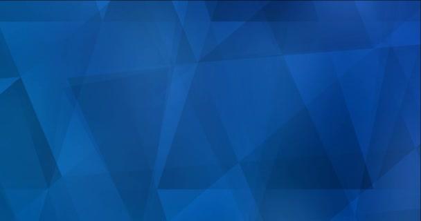 4K smyčka světle modré video s polygonálními materiály.