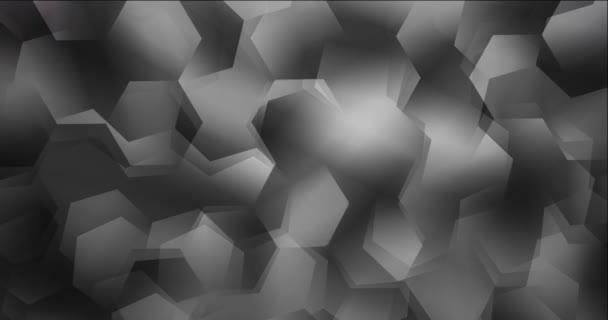 4K smyčka tmavě šedé video s šestiúhelníkovými tvary.