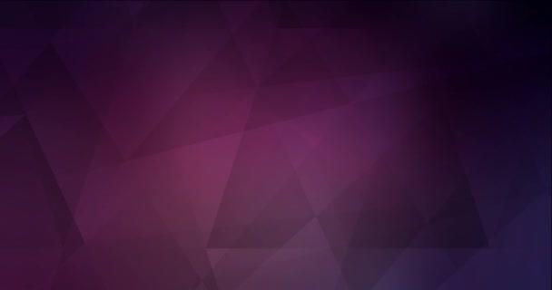 4K hurkolás sötét rózsaszín videó sokszögletű formákkal.