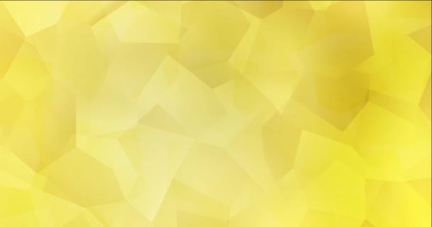 4K smyčka světle žluté video s polygonálními materiály.