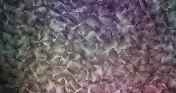 4K Looping dunkelrosa, grüne polygonale abstrakte Animation.