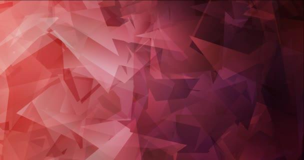 4K smyčka světle růžová, červená polygonální tekoucí video.