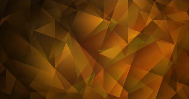 4K looping dark orange polygonal video footage.