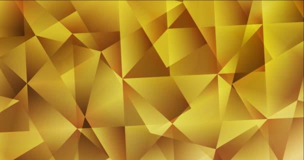 4K-Looping dunkelgelbes Video mit polygonalen Formen.