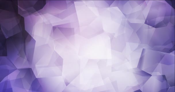 4K smyčka světle fialová polygonální video záběry.