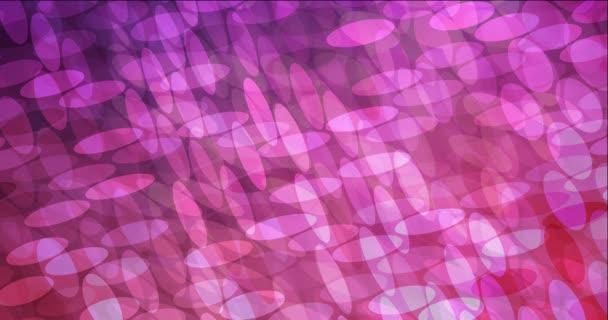 4K hurok sötét lila, rózsaszín áramló videó buborékok.