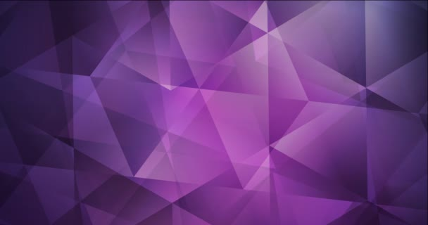 4K hurkolás sötét lila, rózsaszín poligonális absztrakt animáció.