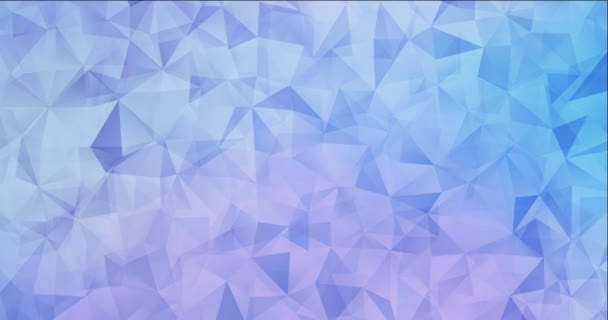 4K looping light pink, blue video with polygonal shapes.