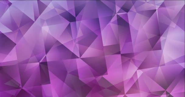 4K hurok világos lila, rózsaszín poligonális absztrakt animáció.