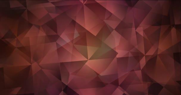 4K smyčka tmavě růžová, červené video s polygonálními materiály.
