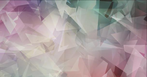 4K smyčka světle zelená, červené video s polygonálními materiály.