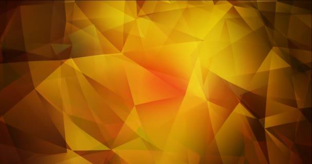 4K hurok sötétvörös, sárga poligonális áramló videó.