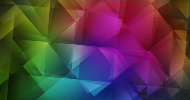 4K smyčka tmavě růžová, zelená polygonální abstraktní záběry.