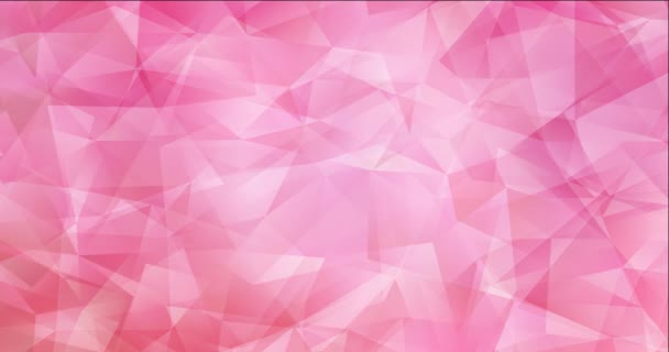 4K looping light pink polygonal flowing video.