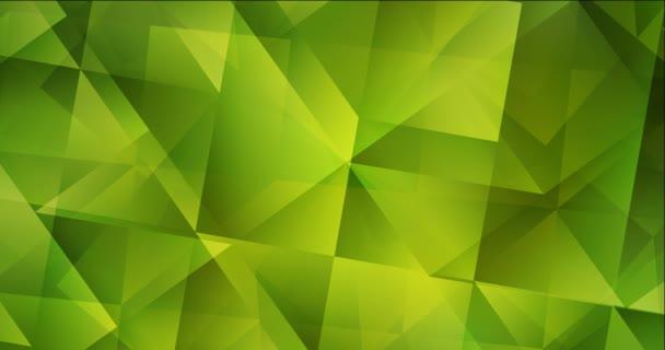 4K smyčka světle zelené, žluté animované pohyblivé slideshow.
