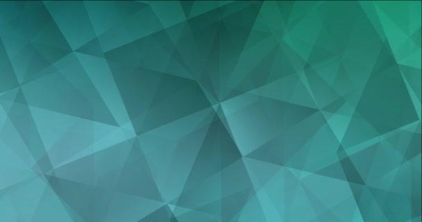 4K looping light green polygonal flowing video.