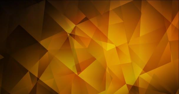 4K smyčka tmavě oranžová polygonální abstraktní animace.