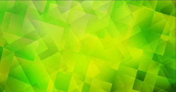 4K looping light green, yellow video footage with rhombus.