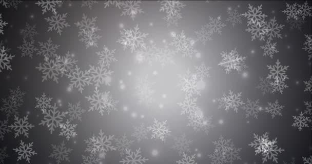 4K hurkolás sötétszürke animáció karácsonyi stílusban.