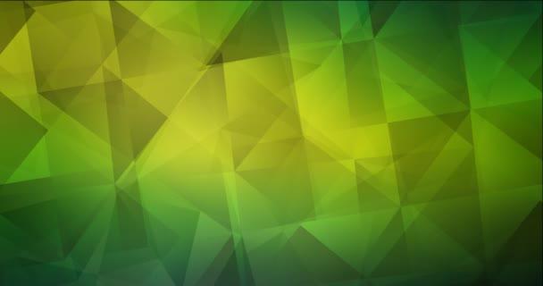 4K smyčka tmavě zelená, žlutá abstraktní video vzorek.