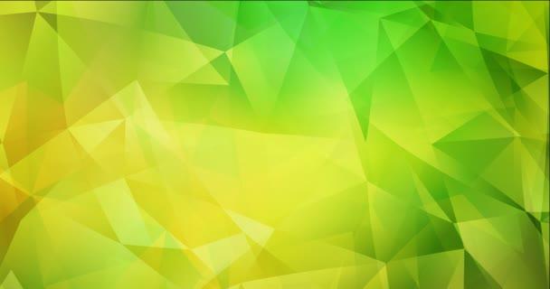 4K smyčka světle zelený, žlutý polygonální video vzorek.