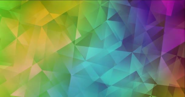 4K smyčka tmavé vícebarevné video s mnohoúhelníkovými tvary.