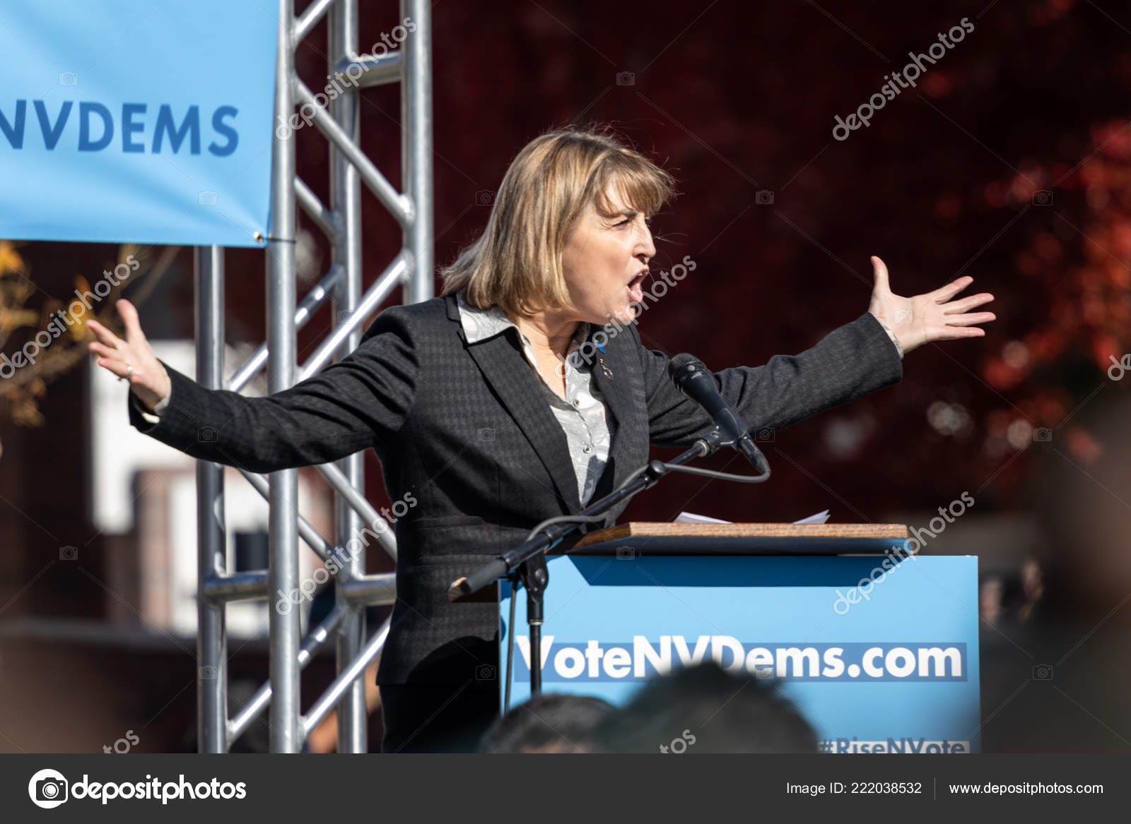 Reno October 2018 Kate Marshall Political Rally Unr Campus Stock Photo