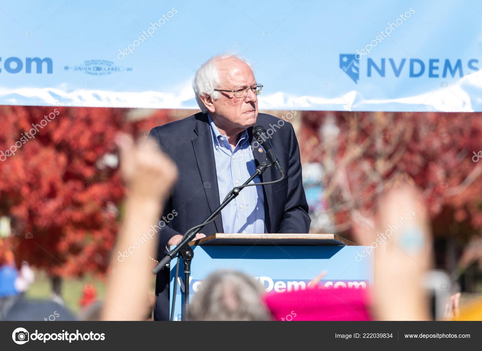 Reno October 2018 Bernie Sanders Speech Political Rally Unr Campus Stock Photo